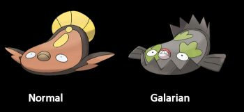 Stunfisk Normal and Galarian Form