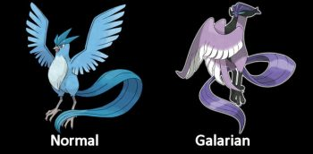 Articuno Normal and Galarian Form