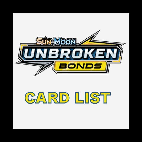 Unbroken Bonds Card List