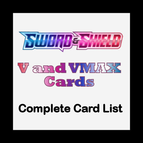 Sword and Shield V and VMAX Cards